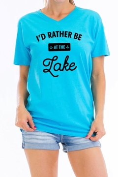 Carmelo Trend Teal Graphic Tee - Alternate List Image