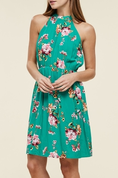 Apricot Lane Teal Green Floral - Product List Image