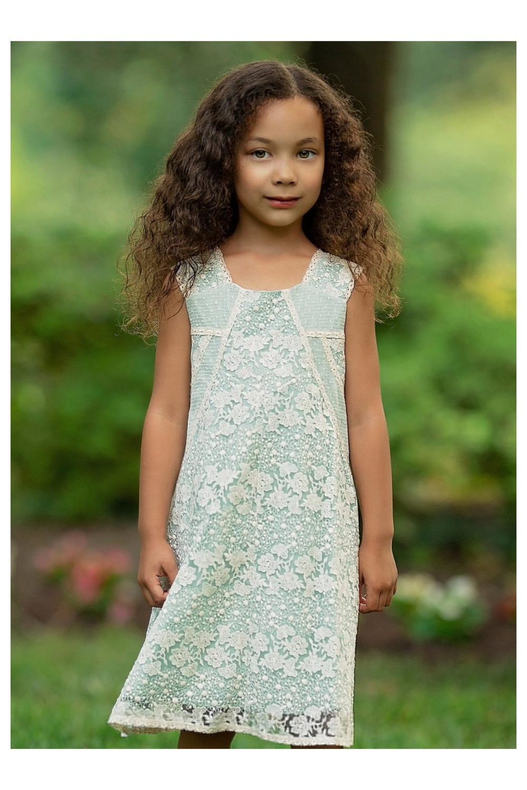 Isobella & Chloe Teal Lace Dress - Main Image