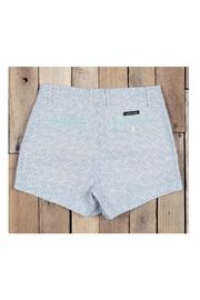 Southern Marsh  Teal Patterned Shorts - Side cropped