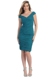 May Queen  Teal Pleated Short Dress - Product Mini Image