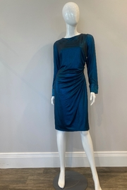 Cachet Teal Short Dress - Front cropped
