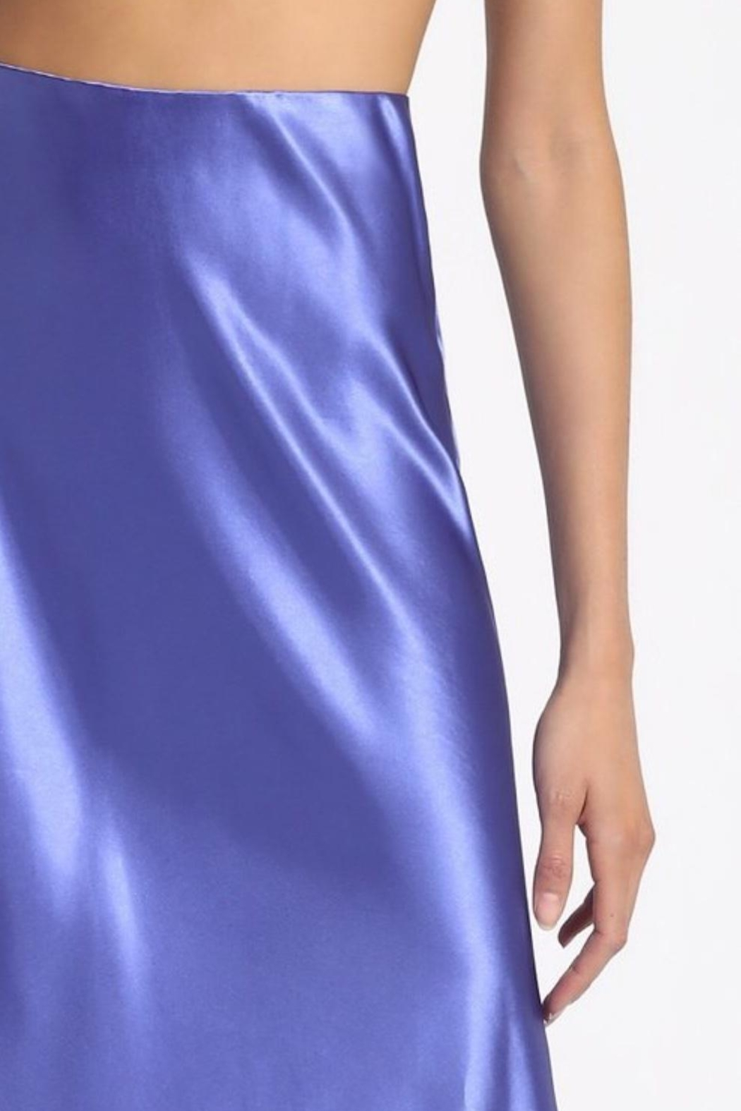 Sans Souci Teal Silky Skirt - Side Cropped Image