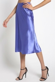 Sans Souci Teal Silky Skirt - Front cropped