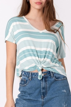 Double Zero Teal Striped Top - Product List Image