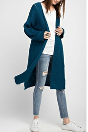 easel Teal Sweater Cardigan - Product Mini Image