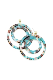 Wild Lilies Jewelry  Teal Tortoise Hoops - Product Mini Image