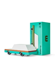 Candylab Toys Teal Wagon Candycar - Front cropped