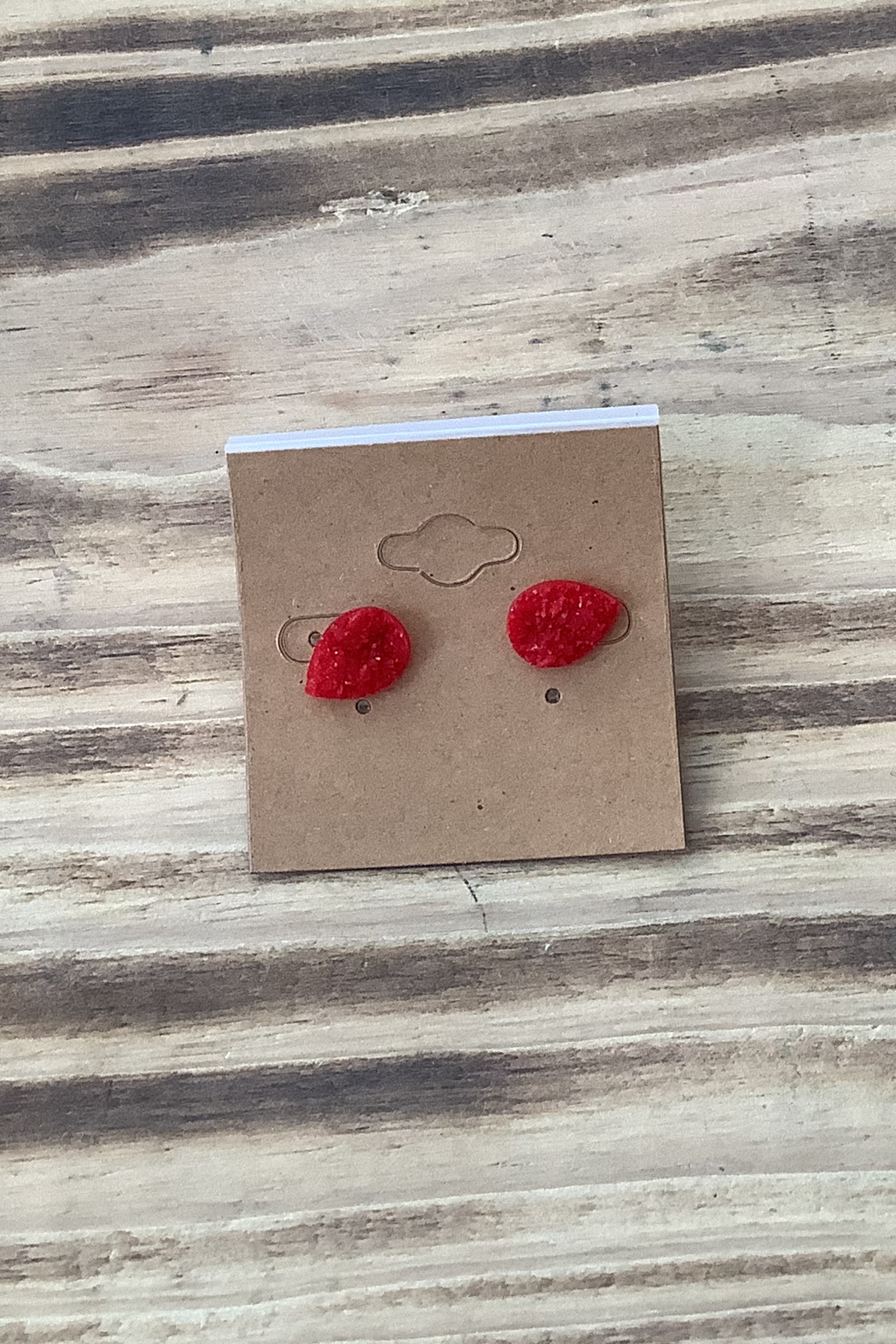 Kindred Mercantile  Tear Drop Stud Earrings - Front Cropped Image