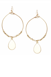 US Jewelry House Teardrop Bangle Hoops - Product Mini Image
