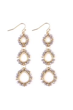 Shoptiques Product: Teardrop-Bead-Loop Hook-Earring