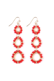 Riah Fashion Teardrop-Bead-Loop Hook-Earring - Product Mini Image