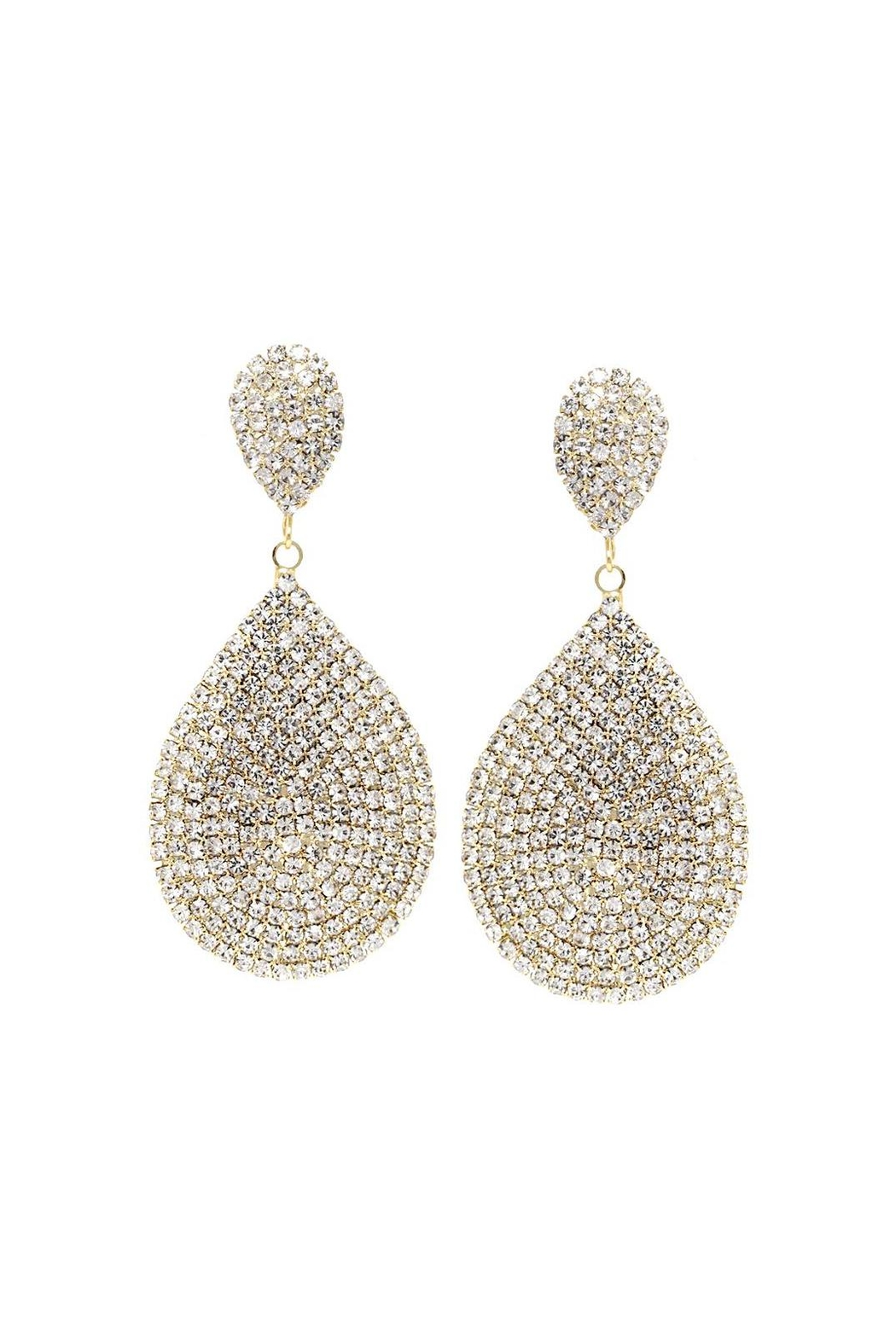 Lets Accessorize Teardrop Clip-On Earrings - Front Cropped Image