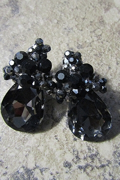 Sophia TEARDROP GEM CLUSTER CLIP EARRING - Alternate List Image