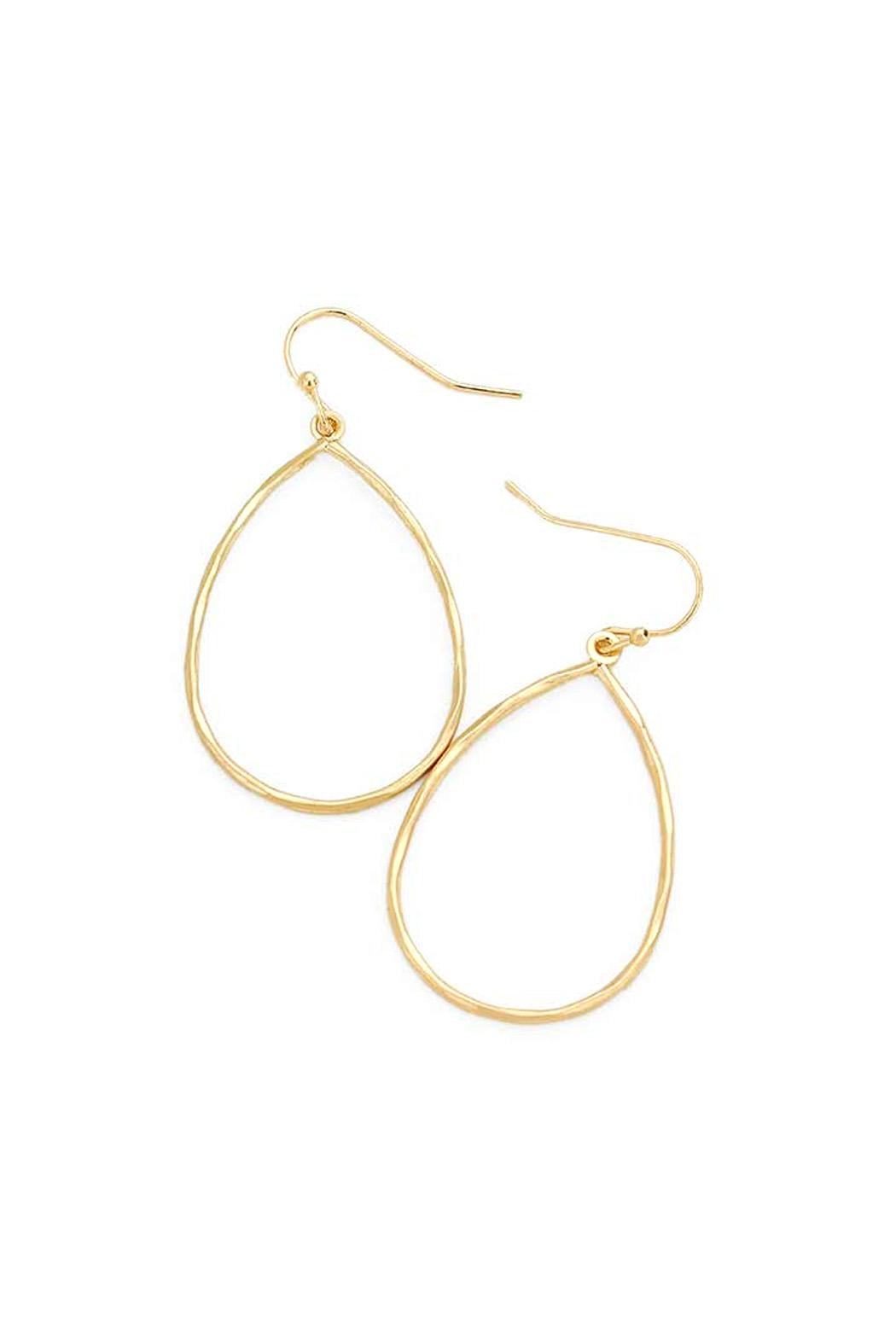 Wild Lilies Jewelry  Teardrop Hoop Earrings - Main Image