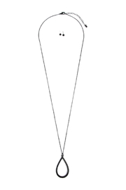 Riah Fashion Teardrop Pendant Necklace - Product Mini Image