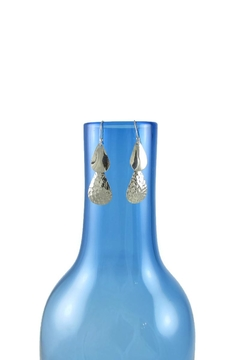 Diana Teardrop Textured Earrings - Alternate List Image