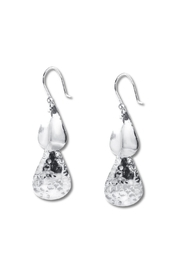 Diana Teardrop Textured Earrings - Front cropped