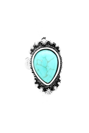 Wild Lilies Jewelry  Teardrop Turquoise Ring - Product Mini Image