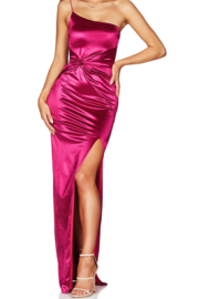 Nookie Tease Satin Gown - Product Mini Image