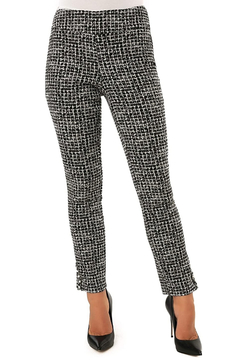 Shoptiques Product: Techno Tweed Ankle Pant with Pearl Detail