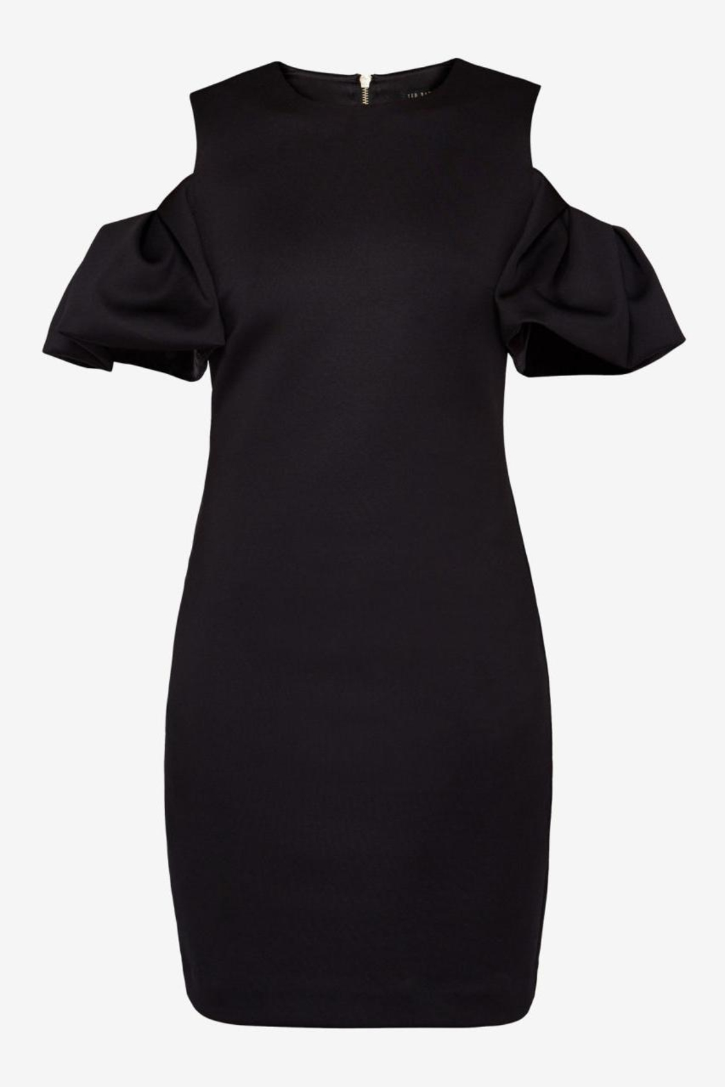 Ted Baker Cold Shoulder Dress - Back Cropped Image