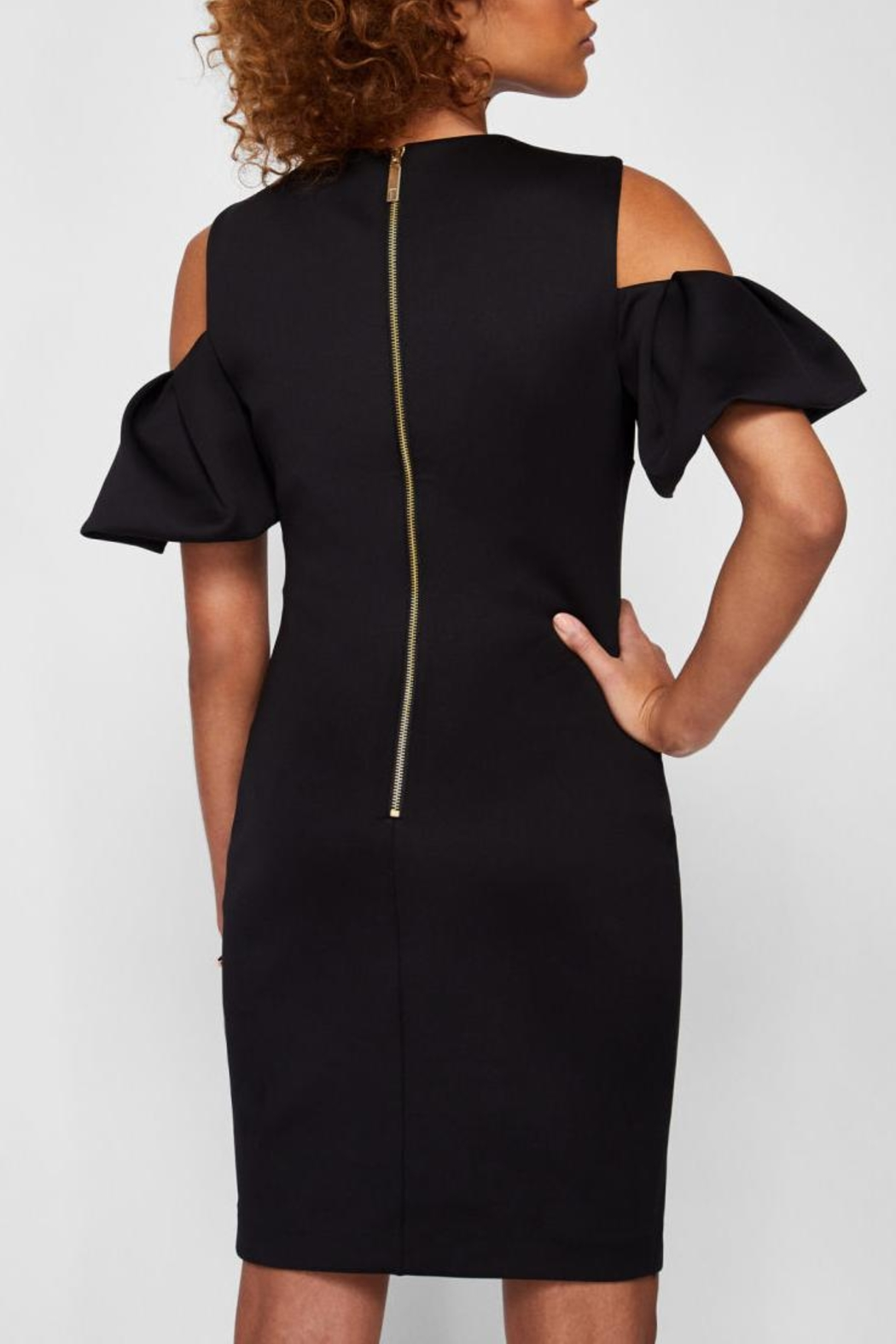 Ted Baker Cold Shoulder Dress - Front Full Image