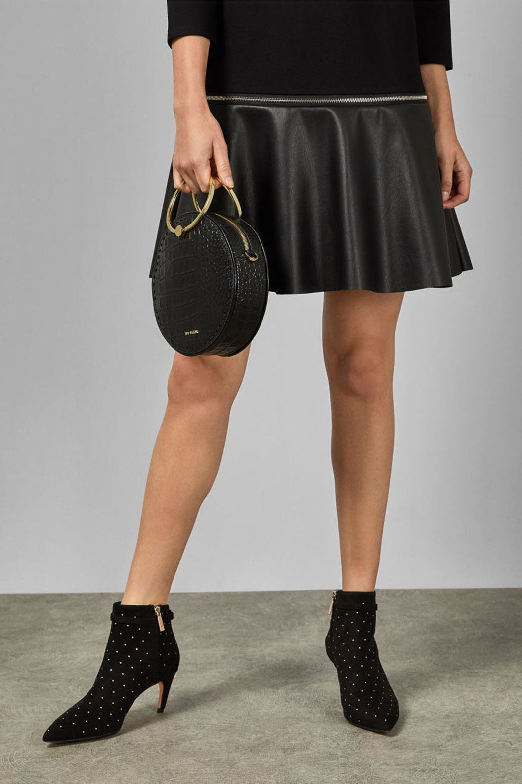 Ted Baker Curvad Studded Boots - Front Full Image