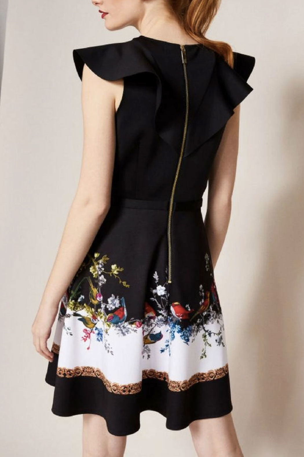 Ted Baker Fit-And-Flare Dress - Back Cropped Image