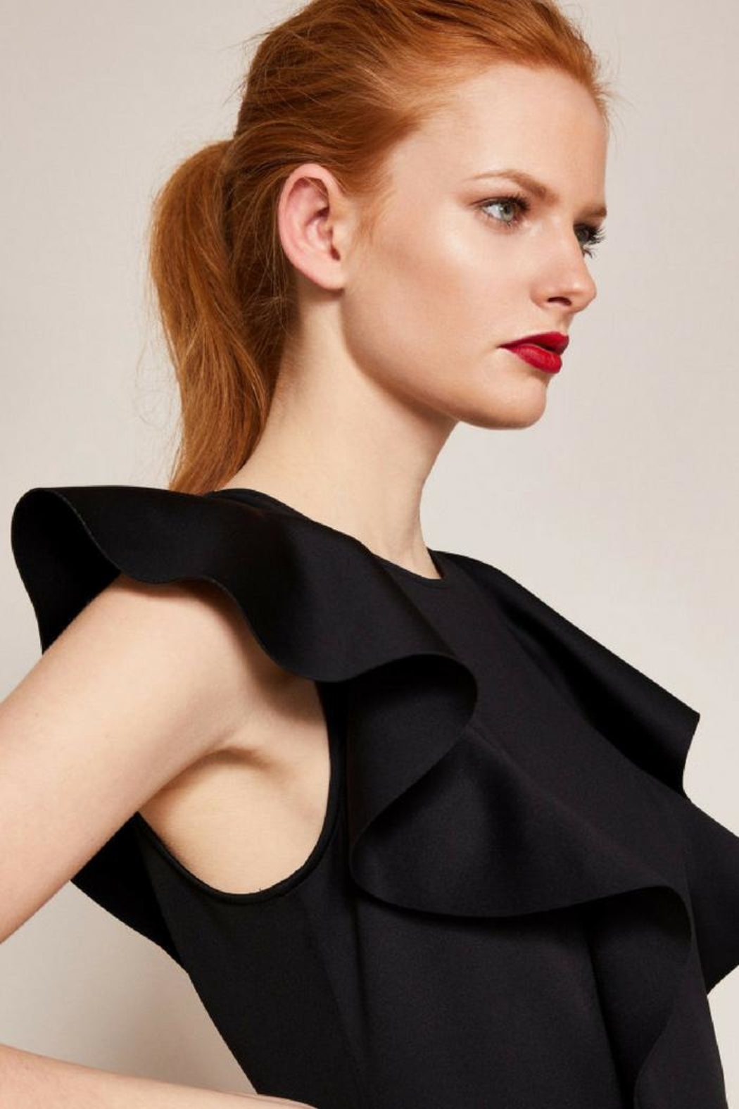 Ted Baker Fit-And-Flare Dress - Side Cropped Image