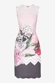 Ted Baker Floral Scalloped Dress - Back cropped