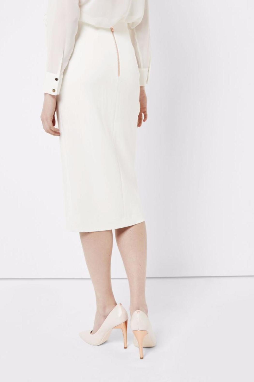 Ted Baker Ivory Pencil Skirt - Front Full Image
