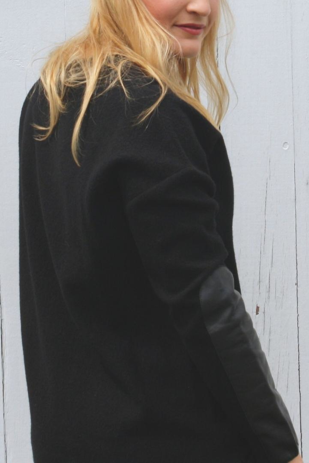 Ted Baker Leather Elbow Sweater - Front Full Image