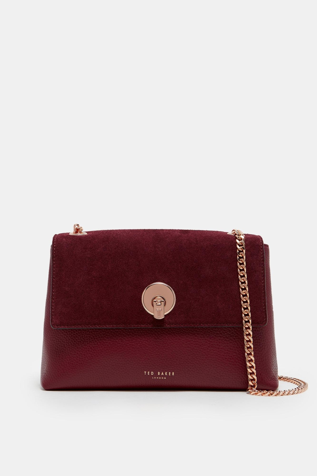 Ted Baker Oxblood Crossbody Bag - Front Cropped Image