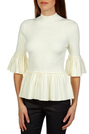 Ted Baker Pleated Peplum Sweater - Front cropped