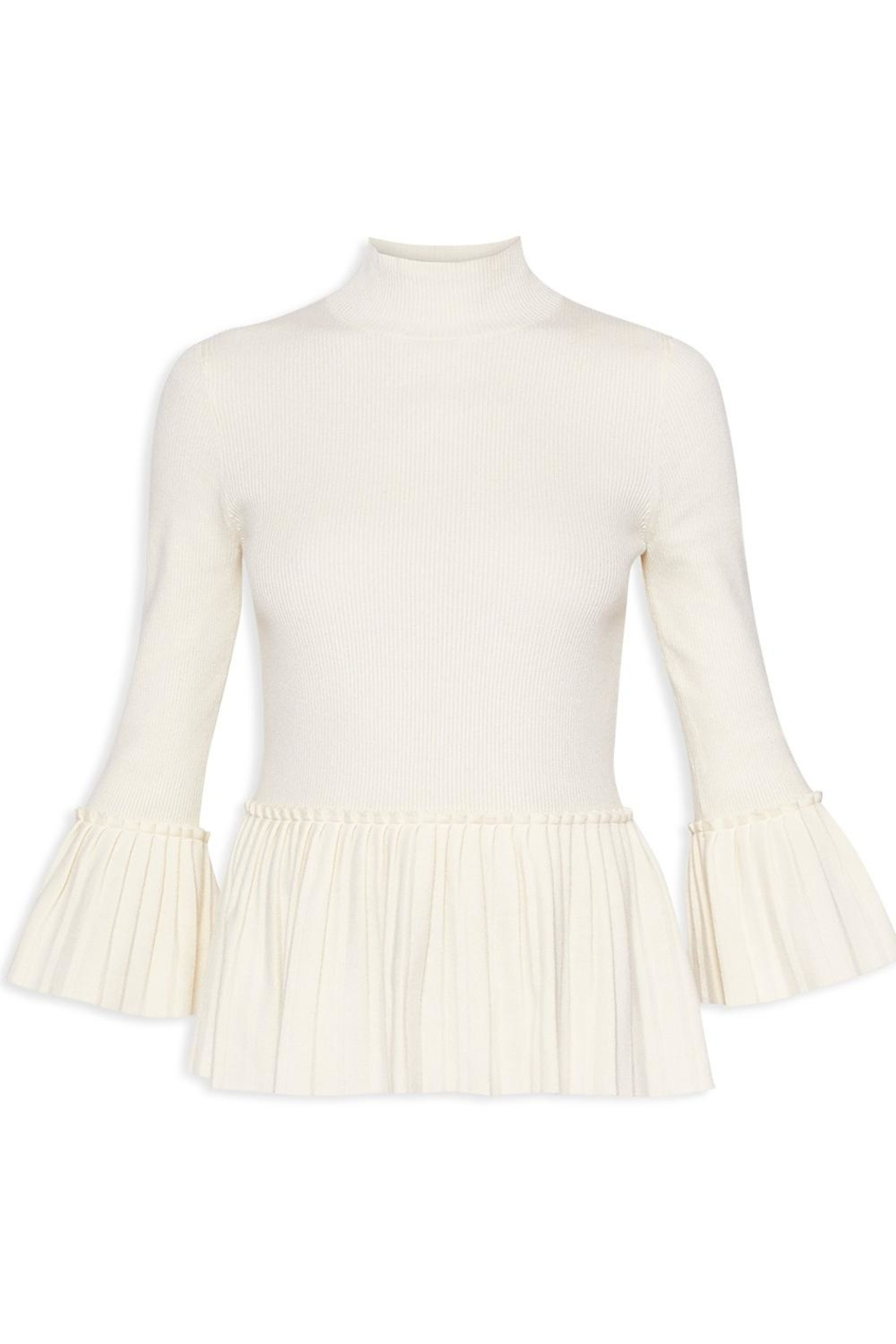 Ted Baker Pleated Peplum Sweater - Front Full Image