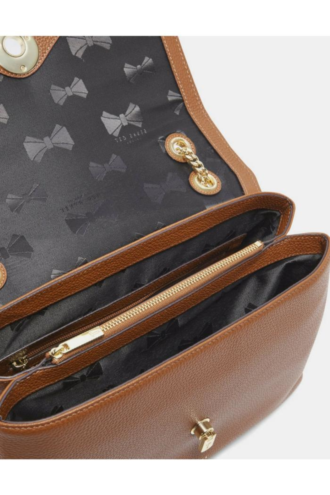 Ted Baker Suede & Leather Bag - Side Cropped Image