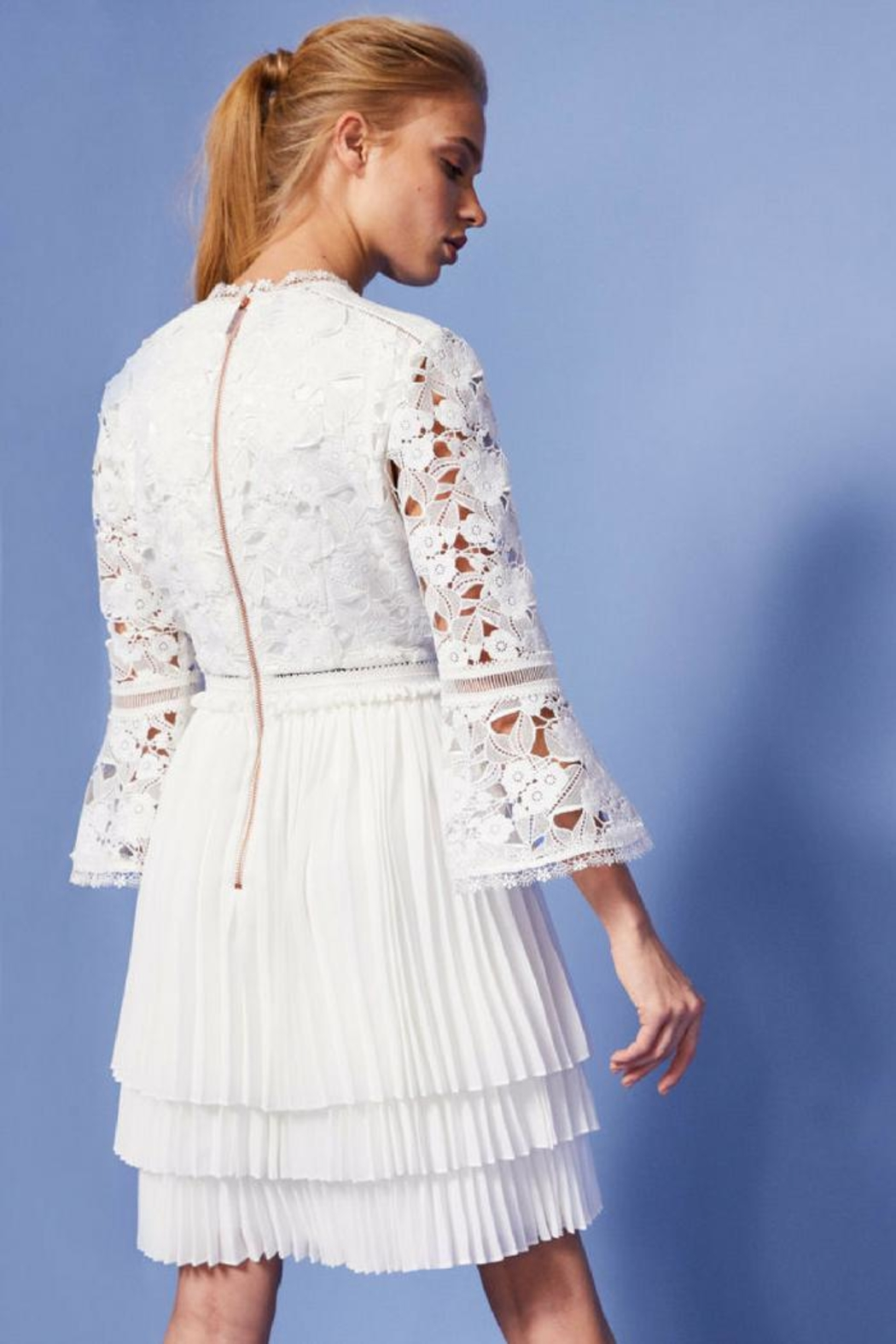 2f87b120c87f2a Ted Baker White Lace Dress from Wallingford by The Dressing Room ...