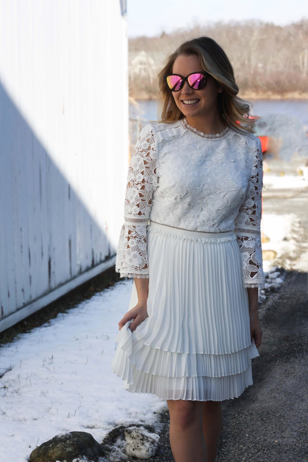 Ted Baker White Lace Dress From Wallingford By The Dressing Room