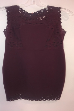 Shoptiques Product: Burgundy Fitted Lace