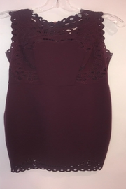 Ted Baker London Burgundy Fitted Lace - Product Mini Image