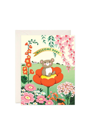 JooJoo Paper Teddy Bear Baby Card - Front cropped