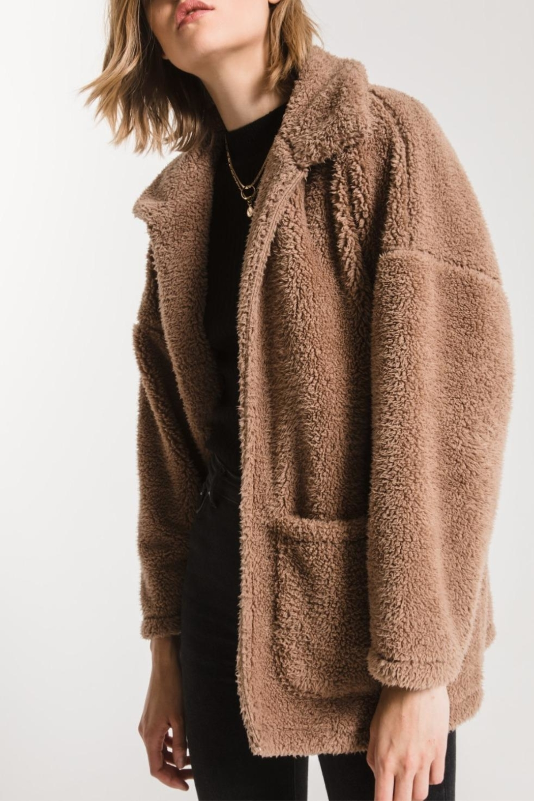 z supply Teddy Bear Coat - Front Cropped Image