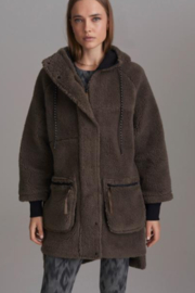 Varley Teddy Bear High Low Coat - Product Mini Image