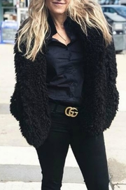 Line Teddy Coat - Front cropped