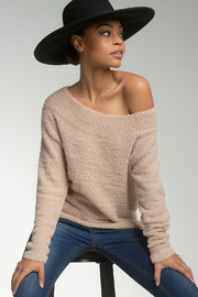 Elan  Teddy Off The Shoulder Sweater - Product Mini Image