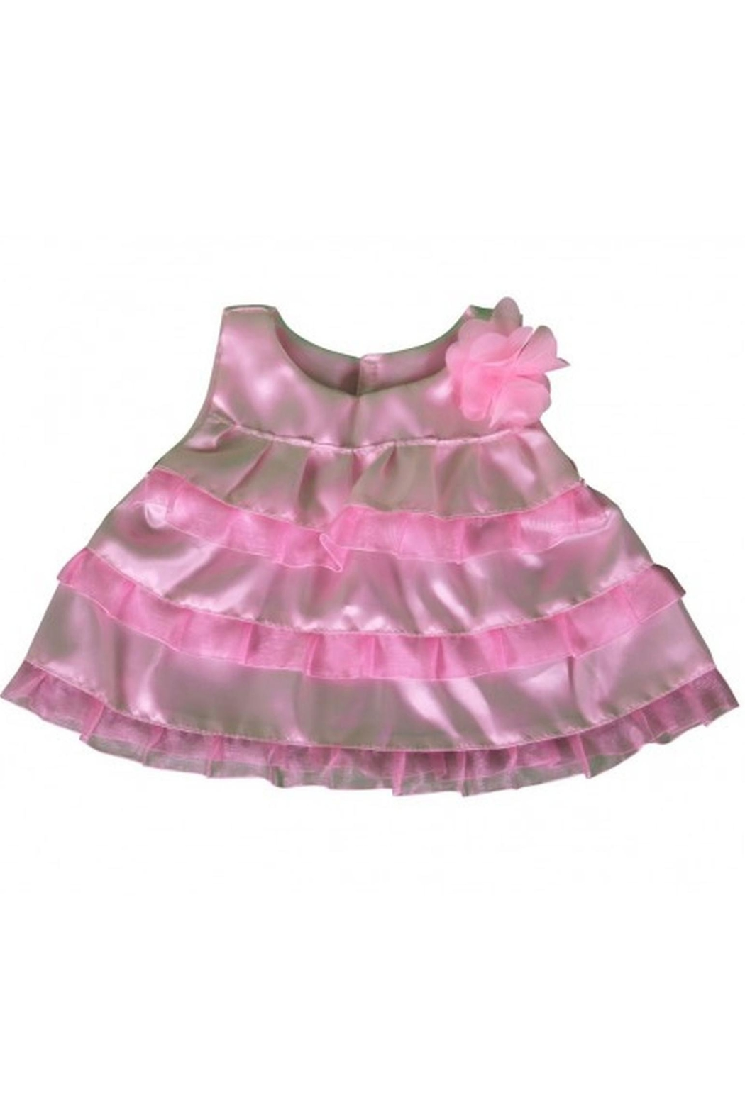 Cuddles and Friends Teddy Pink Dress - Front Cropped Image