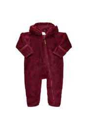 Minymo Teddy Suit - Oxblood Red - Product Mini Image