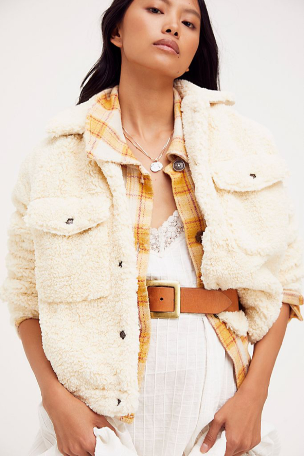 Free People  Teddy Swing Jacket - Side Cropped Image