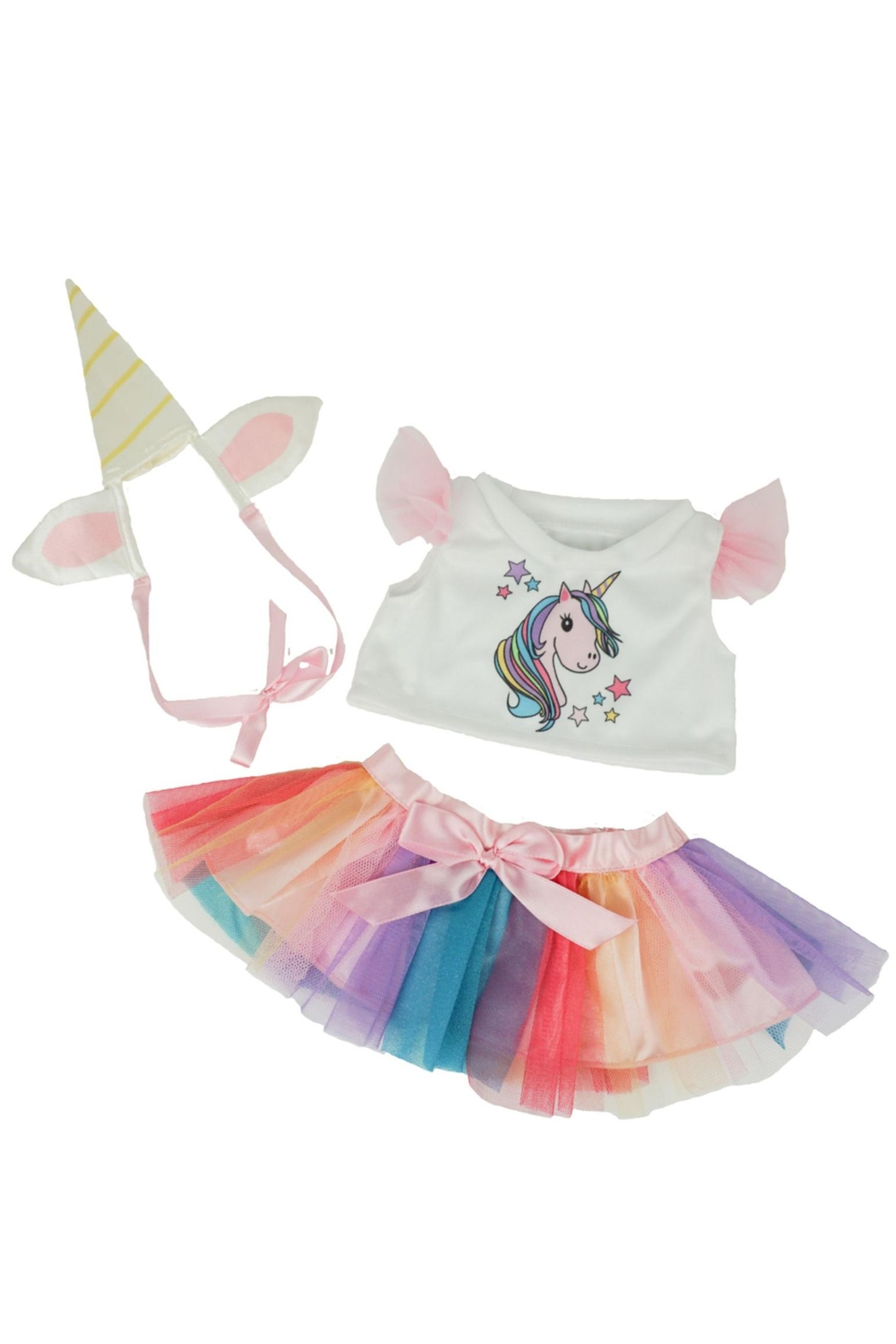 The Bear Factory Teddy Unicorn Outfit - Front Cropped Image